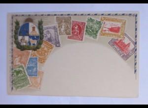 Uruguay, Briefmarken, Sonne, 1900, Prägekarte ♥