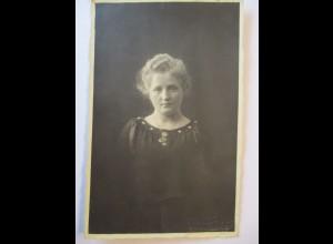 Junge Frau, Fotokarte, Photo Kasig, Wernigerode 1919