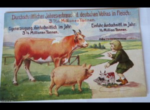 """""""Volkswirtschaftliche, Wahrheiten, Karte 9, Bund der Landwirte"""" 1910 ♥ (18162)"""