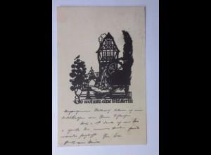 Scherenschnitt, Es wohnte eine Müllerin, 1931, Hess ♥ (56888)