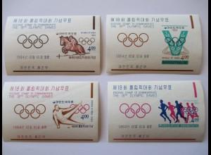Südkorea, 4 Olympia Blocks 1964 postfrisch (29614)