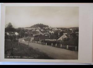 Tschechien, Vožice (Jung Woschitz), Stadtansicht, Fotokarte ca. 1930 (44572)
