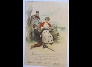 Frau Mann Liebe Anstandsdame, Glitzerkarte 1901