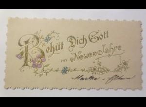 kleines Kärtchen, Neujahr, 1900 ♥