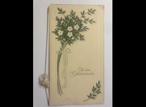 Klappkarte, Blumen, Hochzeit, 1930 ♥ (70643)