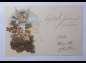 Neujahr, Schutzengel, Engel, Kinder, 1899 ♥ (62338)