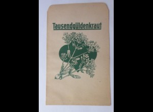 Werbung, Reklame, Kaufladen Tütchen, Tausendgüldenkraut, ca.1920 ♥ (69956)