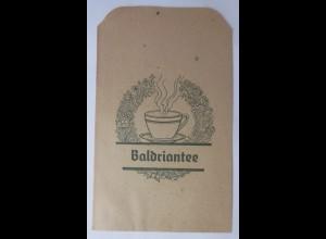 Werbung, Reklame, Kaufladen Tütchen, Baldriantee, ca.1920 ♥ (69959)
