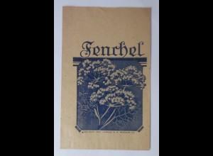 Werbung, Reklame, Kaufladen Tütchen, Fenchel-Tee, 1920 ♥ (69975)