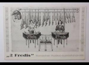 Zirkus, Clown, 2 Fredis, Komischer Musikal-Ausstattungs-Akt, 1907 ♥ (44187)
