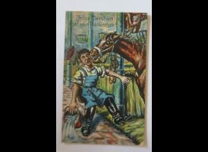 Pferde, Soldat, Jedes Tierchen hat ein Plasierchen, 1913 ♥ (34667)