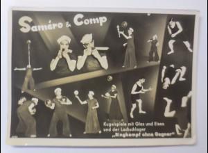 Zirkus, Samero&Comp, Kugelspiele mit Glas und Eisen, Ringkampf, 1918 ♥(44184)