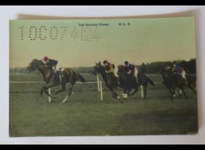 """Pferderennen, Les Courses Plates, Pferderennbahn, Paris, Trevise"" 1909♥"