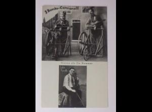 Zirkus Clown, 2 Bumke-Carmanelli, Musikalische Scherenschleifer ♥ (44195)