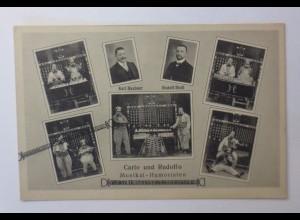 Zirkus, Comedy, Clown, Carlo und Rudolfo, Musikal-Humoristen, 1910 ♥ (44193)