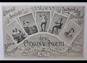 Zirkus, Clown, Die Angelli, Musical Exantrique, 1918 ♥ (44183)