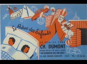 Nikolaus, Reklame, Ch. Dumont, Se Realise Chez, Spielzeug, 1920 ♥ (13956)
