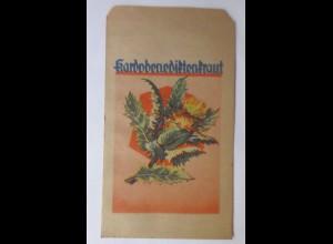 Werbung, Reklame, Kaufladen Tütchen, Kardobenediftenkraut, 1920 ♥ (69979)