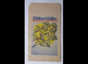 Werbung, Reklame, Kaufladen Tütchen, Birkenblätter, 1920 ♥ (69980)
