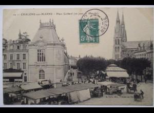 Chalons sur Marne, Marktplatz, ca. 1910