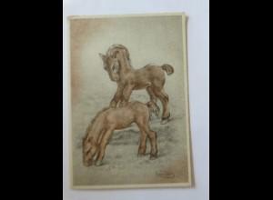 """""""Pferde"""" 1945,sig. Swil Deng ♥ (34692)"""