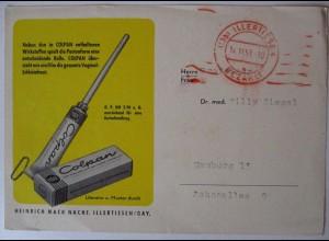 Reklame, Werbung, Medizin Hygiene, Colpan, 1951 aus Illertissen