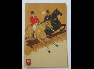 """""""Pferde, Pferderennen, Reiter"""" 1907 ♥ (34694)"""