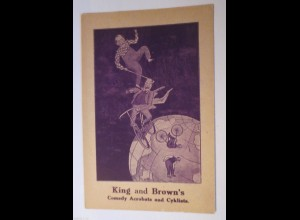 """""""Fahrrad, King and Browns, Comedy Acrobats and Cyklists"""" 1910 ♥ (17235)"""