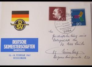 Deutsche Ski Meisterschaft Nordisch, 1967 in Nesselwang, Autogramme