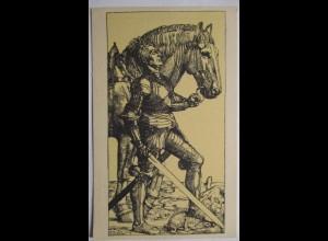 Künstlerkarte Fritz Boehle, Heiliger Georg mit Pferd (16828)