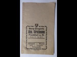 Reklame,Kaufladen Tütchen, Burg-Drogerie Alex.Türschmann, Frankfurt,1920♥(69986)