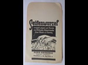 Reklame, Tütchen, Seifenwurzel, Burg-Drogerie Alex.Türschmann 1920 ♥ (69987)