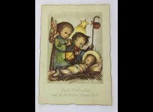 Weihnachten, Engel, Krippe, Laterne, Stern, 1952 ♥ (68759)