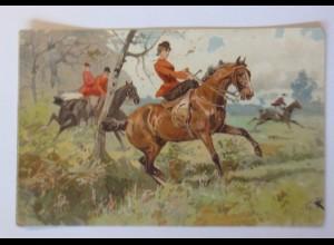 """Pferde, Jagd, Pferderennen"" 1909 ♥ 45585"