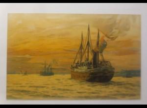Schiffe, Segelschiff, Meer, 1900, Litho ♥ (70685)