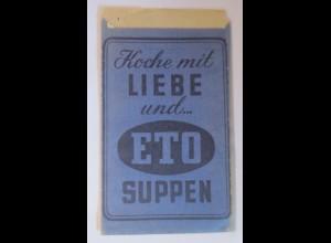 Reklame, Tütchen, Koche mit Liebe und ETO Suppen,1920 ♥ (69993)