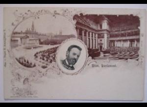 Österreich, Wien Parlament, Abgeordneter Hannich 1899 (7821)
