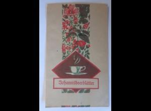 Werbung, Reklame, Tütchen, Johannisbeerblätter, 1920 ♥ (69998)