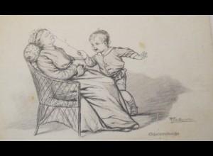 """""""Kinder, Schelmenstreiche, Federzeichung"""" ca. 1920, Wally Fialkowska ♥"""