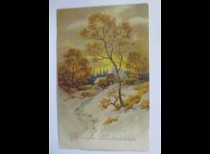 Weihnachten, Winterlandschaft, Haus, 1923 ♥ (65751)