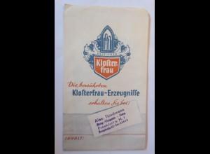 Werbung, Reklame, Tütchen, Klosterfrau Melissengeist, Burg Drogerie,1920♥(70007)
