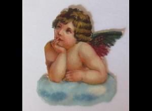 Oblaten, Engel, 1900, 4 cm x 3,5 cm ♥ (7280)