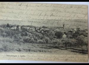 Lothringen, Mörchingen, Gesamtansicht, Feldpost 1916