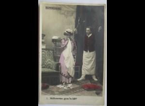 Dienstmädchen, Diener, ca. 1900