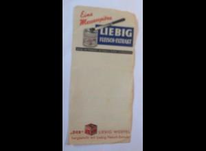 Werbung, Reklame, Zettel, Liebig Fleisch-Extrakt ♥ (70025)