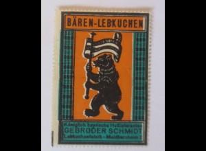 Werbung, Reklame, Vignette, Bären-Lebkuchen, Gebr. Schmidt Bayern ♥ (70027)