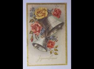 Ostern, Glocken, Blumen, Rosen, 1958 ♥ (51044)