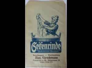 Werbung-Reklame, Seifenrinde Türschmann, Frankfurt, original Tütchen