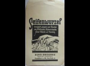 Werbung-Reklame, Seifenwurzel, Frankfurt, original Tütchen
