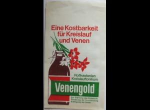 Werbung-Reklame, Venengold, original Tütchen (1931)